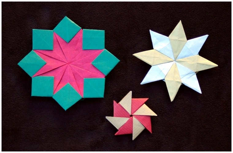 Left To Right Double Eight Pointed Star Magic Two Toned