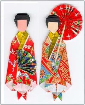 Origami Kimono Dolls