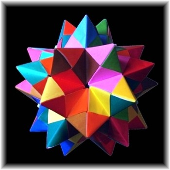 Origami Spiked Pentakis Dodecahedron