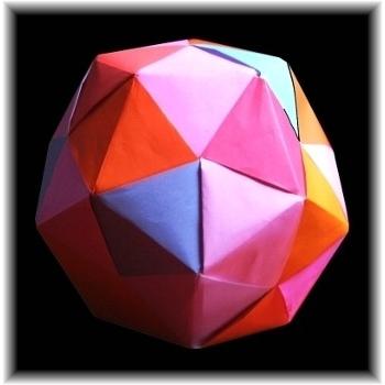 Spiked pentakis dodecahedron - Simple Edge Unit (Sonobe-like variant) | 350x350